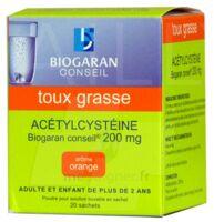 Acetylcysteine Biogaran Conseil 200 Mg Pdr Sol Buv En Sachet B/20 à Blere