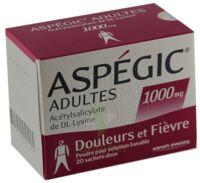 Aspegic Adultes 1000 Mg, Poudre Pour Solution Buvable En Sachet-dose 15 à Blere