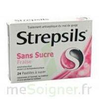 Strepsils Fraise Sans Sucre, Pastille édulcorée à L'isomalt, Au Maltitol Et à La Saccharine Sodique à Blere