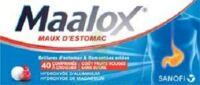 Maalox Maux D'estomac Hydroxyde D'aluminium/hydroxyde De Magnesium 400 Mg/400 Mg Sans Sucre Fruits Rouges, Comprimé à Croquer édulcoré à La Saccharine Sodique, Au Sorbitol Et Au Maltitol à Blere