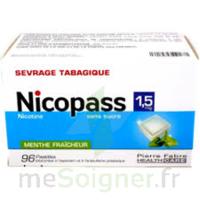 Nicopass 1,5 Mg Pastille Sans Sucre Menthe Fraîcheur Plq/96 à Blere