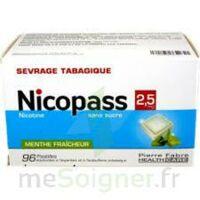 Nicopass 2,5 Mg Pastille Menthe Fraîcheur Sans Sucre Plq/96 à Blere