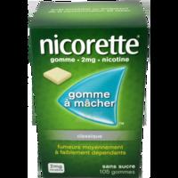 Nicorette 2 Mg Gom à Mâcher Médic Sans Sucre Menthe Fraîche Plq/105gom à Blere