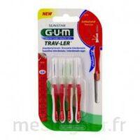 Gum Trav - Ler, 0,8 Mm, Manche Rouge , Blister 4 à Blere