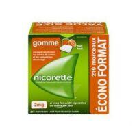 Nicorette 2 Mg Gomme à Mâcher Médicamenteuse Sans Sucre Fruits Plq/210 à Blere