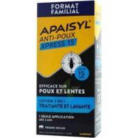 Apaisyl Anti-poux Xpress 15' Lotion Antipoux Et Lente 100ml+peigne à Blere